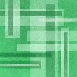 Fondo verde astratto con i rettangoli bianchi nella disposizione astratta Immagine Stock