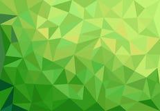 Fondo verde astratto con i triangoli Fotografie Stock