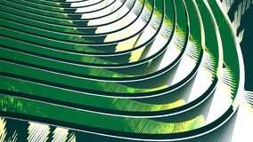 Fondo verde astratto con lo scorrimento ondulato Immagine Stock