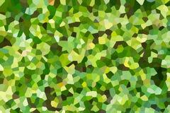 Fondo verde astratto del poligono Fotografia Stock