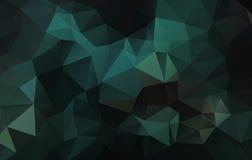 Fondo verde astratto del triangolo Fotografia Stock