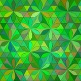 Fondo verde astratto del triangolo Fotografie Stock