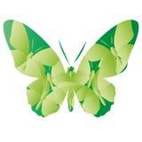 Fondo verde astratto delle farfalle di vettore Immagini Stock Libere da Diritti