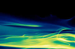 Fondo verde, azul y negro abstracto stock de ilustración