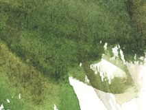 Fondo verde bagnato dell'acquerello dell'estratto con le macchie Lavaggio dell'acquerello Pittura astratta royalty illustrazione gratis