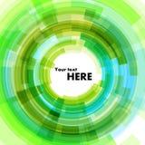Fondo verde bajo la forma de círculo Fotos de archivo libres de regalías