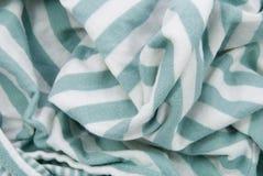 Fondo verde blanco del algodón Fotografía de archivo