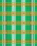 Fondo verde, blanco y anaranjado de la tela escocesa - colores irlandeses Foto de archivo libre de regalías
