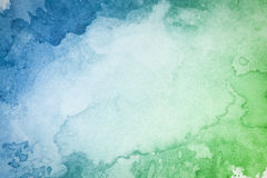 Fondo verde blu artistico astratto dell'acquerello Fotografia Stock Libera da Diritti