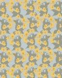 fondo verde blu con i fiori gialli illustrazione di stock