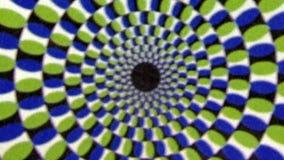 Fondo verde blu d'annata di animazione di spirale del mulinello video d archivio