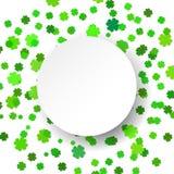 Fondo verde brillante di celebrazione dei coriandoli dell'illustrazione di vettore Fotografie Stock Libere da Diritti
