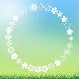 Fondo verde chiaro e blu astratto con lo spazio della copia Fotografia Stock