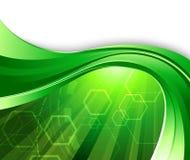 Fondo verde claro de la tecnología Imagen de archivo libre de regalías
