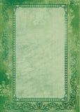Fondo verde con el marco Ilustración del Vector