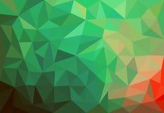 Fondo verde con i triangoli Immagine Stock Libera da Diritti