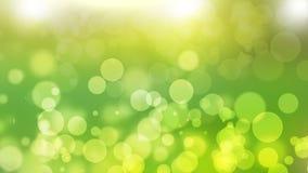 Fondo verde con il fondo dell'estratto della natura del bokeh fotografie stock