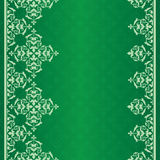 Fondo verde con l'ornamento d'annata Illustrazione di Stock