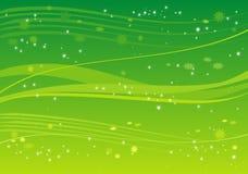 Fondo verde con las estrellas Fotos de archivo