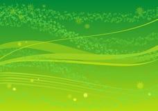 Fondo verde con las hojas Imagen de archivo libre de regalías