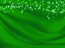 Fondo verde con las líneas onduladas Imagen de archivo