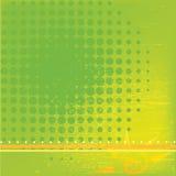 Fondo verde con los círculos Fotos de archivo