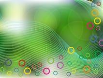 Fondo verde con los cicles Fotografía de archivo libre de regalías