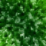 Fondo verde con los cuadrados Ilustración del Vector