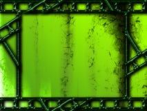 Fondo verde con los marcos de película de la foto Foto de archivo