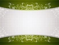 Fondo verde con los ornamentos decorativos stock de ilustración