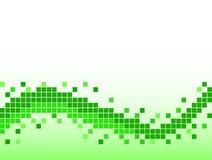 Fondo verde con los pixeles Imagen de archivo libre de regalías
