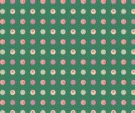 Fondo verde con los puntos multicolores Puede ser utilizado para el papel de embalaje libre illustration
