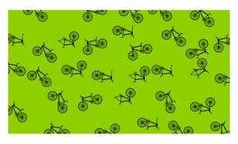 Fondo verde con molte biciclette - illustrazione di vettore illustrazione di stock
