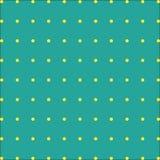 Fondo verde con punti gialli sul vettore royalty illustrazione gratis