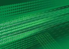 Fondo verde de código binario Fotos de archivo libres de regalías