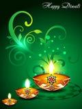 Fondo verde de Diwali con floral
