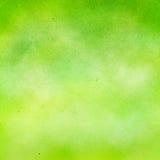 Fondo verde de la acuarela. Foto de archivo libre de regalías