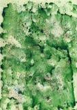 Fondo verde de la acuarela Imagenes de archivo