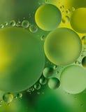 Fondo verde de la burbuja Fotografía de archivo