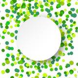 Fondo verde de la celebración del confeti del ejemplo del vector que brilla Fotos de archivo libres de regalías