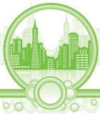 Fondo verde de la ciudad Fotografía de archivo libre de regalías