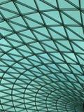 Fondo verde de la curva Fotografía de archivo libre de regalías