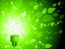 Fondo verde de la energía Imágenes de archivo libres de regalías