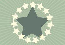 Fondo verde de la estrella Foto de archivo libre de regalías