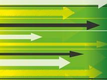 Fondo verde de la flecha Imagen de archivo