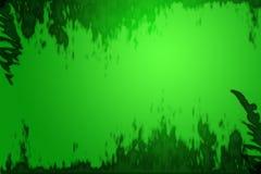 Fondo verde de la frontera del grunge Fotos de archivo