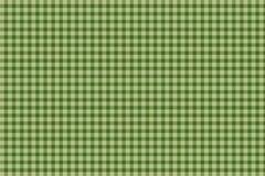 Fondo verde de la guinga de la tela escocesa Fotografía de archivo