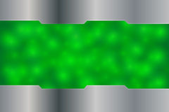 Fondo verde de la iluminación con metálico de plata Imágenes de archivo libres de regalías