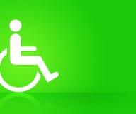 Fondo verde de la incapacidad Imágenes de archivo libres de regalías