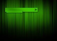 Fondo verde de la insignia Imagen de archivo